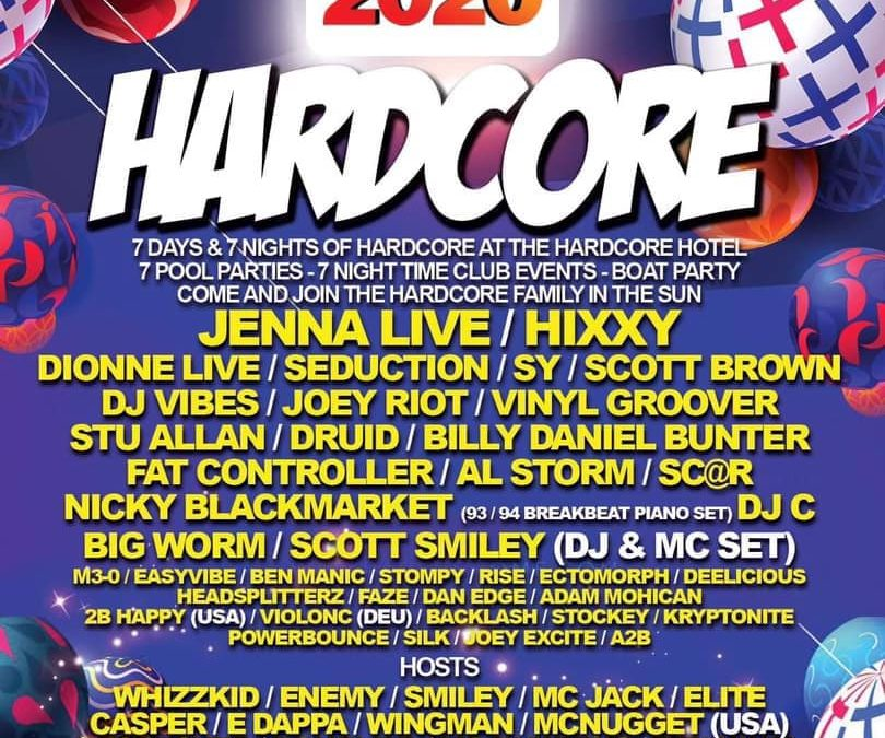 HARDCORE Line Up 2020!