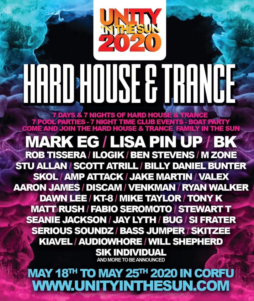 hard house unity 2020 line up