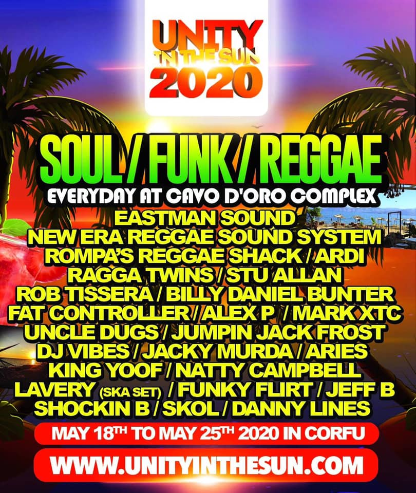 Unity in the Sun 2020 Soul, Funk & Reggae line up